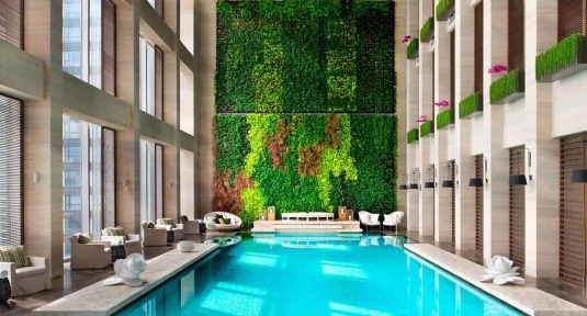 A luxury indoor pool