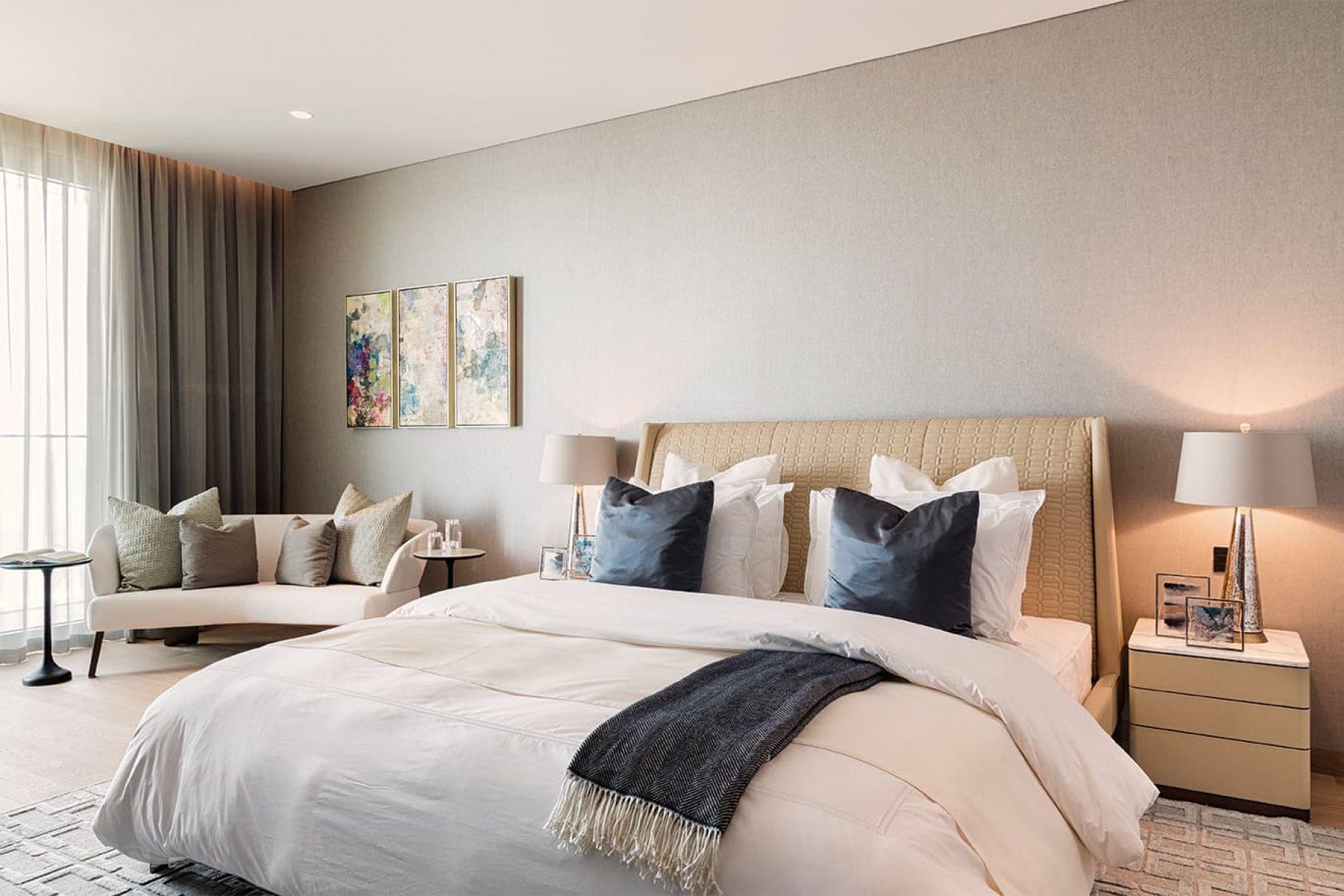 The interior of a luxury garden residence in Dubai
