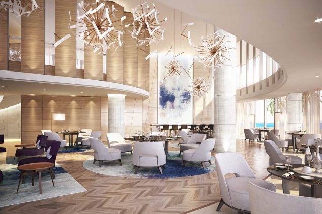 The Club 104 Restaurant at the W Residences Apartments Dubai