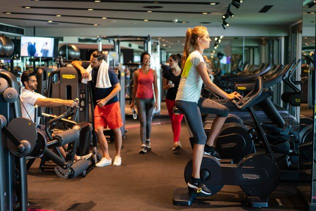 A gym at the W Residences apartments Palm Jumeirah