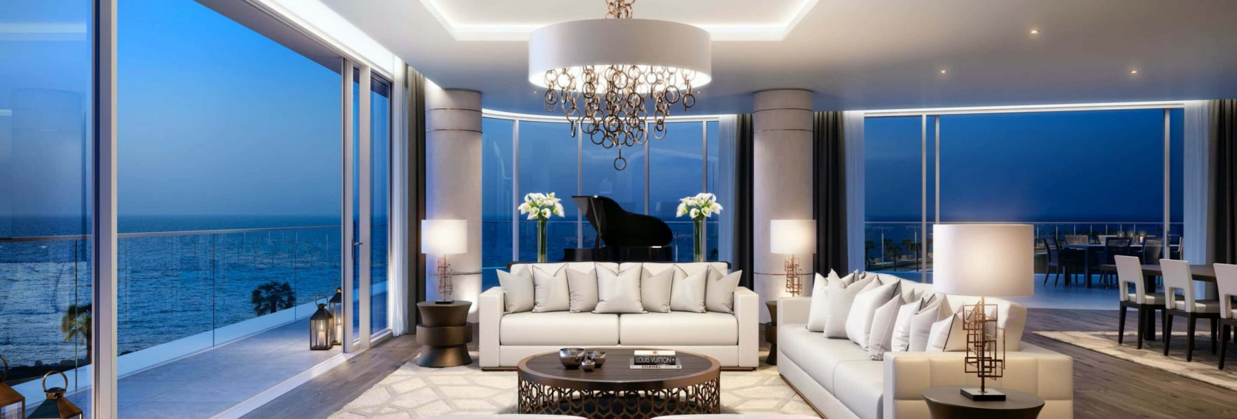 The interior of a luxury residence in Dubai