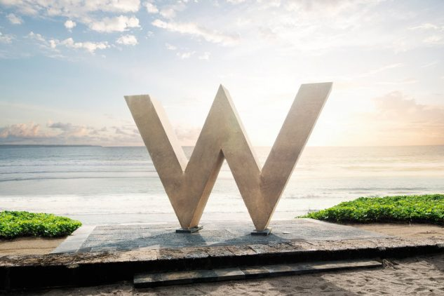 A large gold W at the W Residences Palm Jumeirah