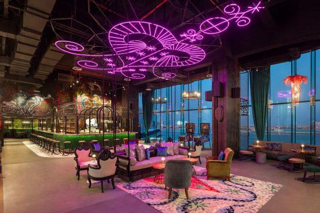 SoBe restaurant at the W Residences Palm Jumeirah, Dubai